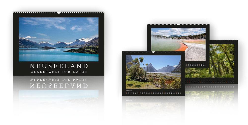 Kalender Neuseeland - Wunderwelt der Natur 2018