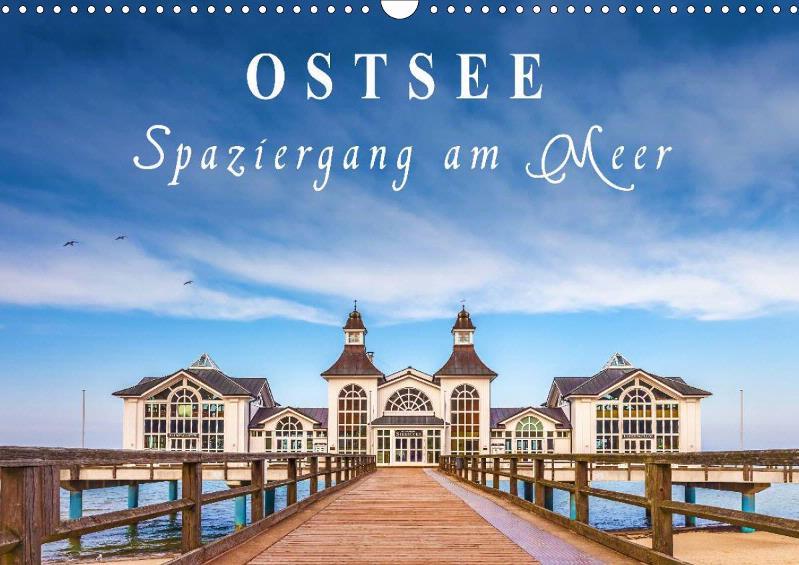 Monatskalender Ostsee - Spaziergang am Meer 2019