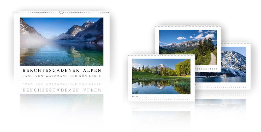 Kalender Berchtesgadener Alpen - Land von Watzmann und Königssee 2018