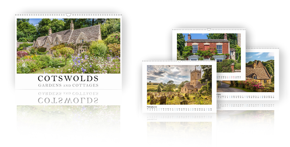 Calendar Cotswolds - Gardens and Cottages 2018