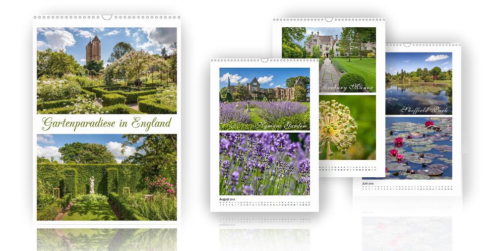 Kalender Gartenparadiese in England 2018
