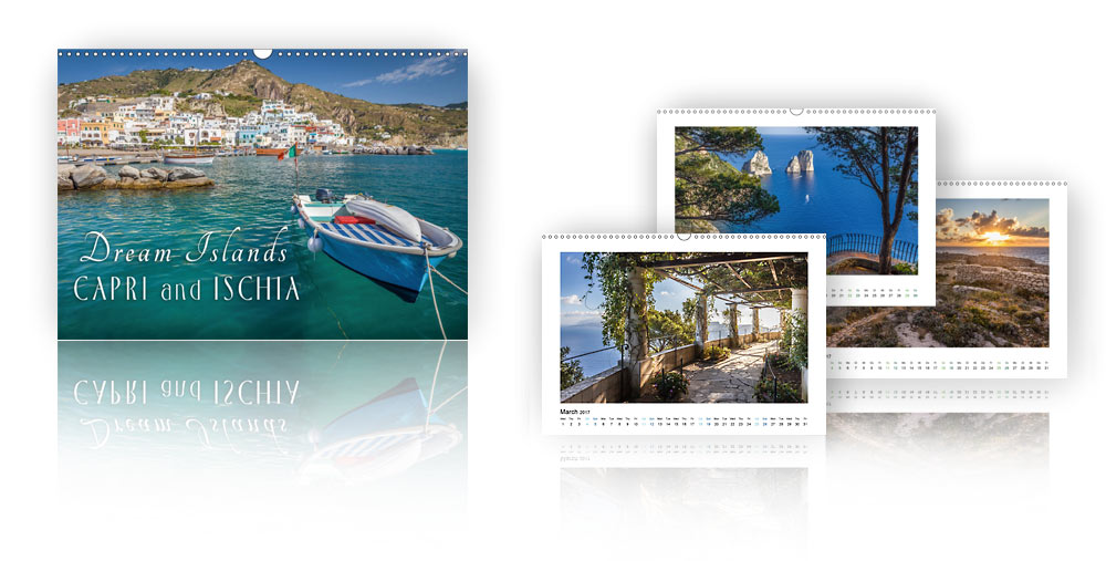 Calendar Dream Islands Capri and Ischia 2018