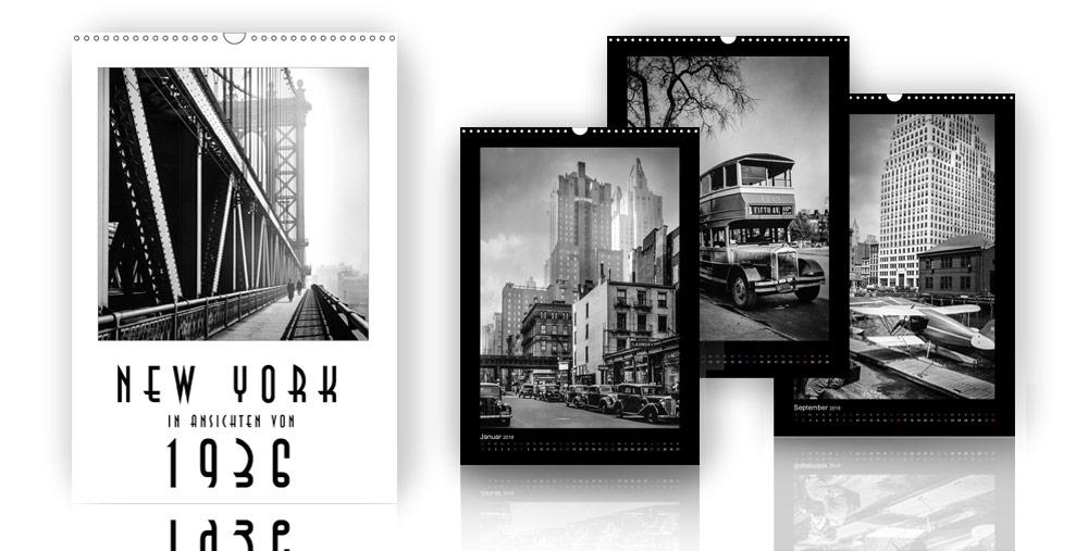 Kalender - New York (in Ansichten von 1936) - 2018