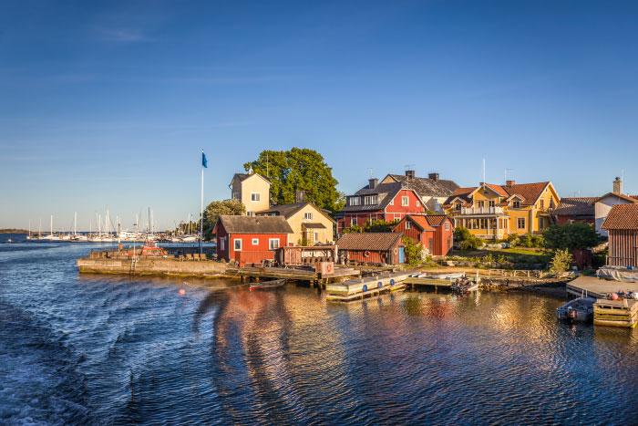 Hafen der Insel Sandhamn