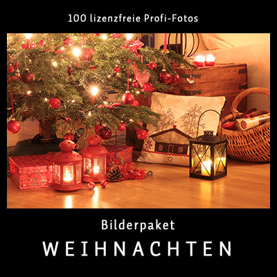 Bilderpaket Weihnachten - 100 lizenfreie Profi-Fotos
