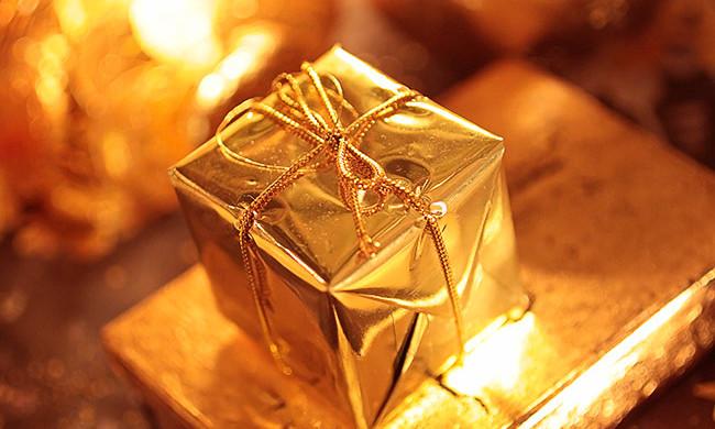 Goldenes Päckchen
