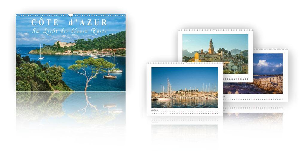 Kalender Cote d'Azur - Im Licht der blauen Küste 2018