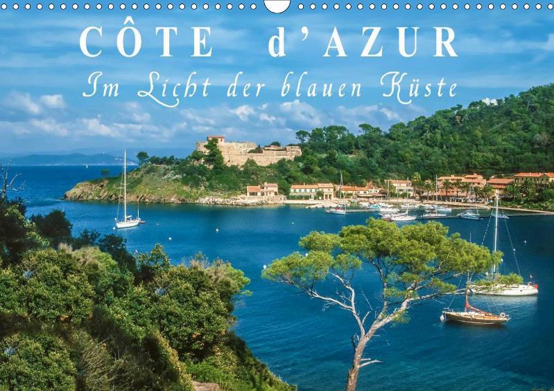 Cote d'Azur - Im Licht der blauen Küste Monatskalender 2019