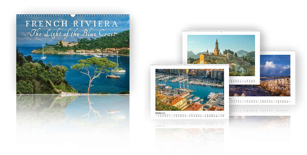 Calendar French Riviera - The Light of the Blue Coast 2018