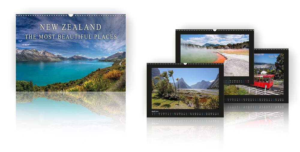Calendar New Zealand - The most beautiful places 2018