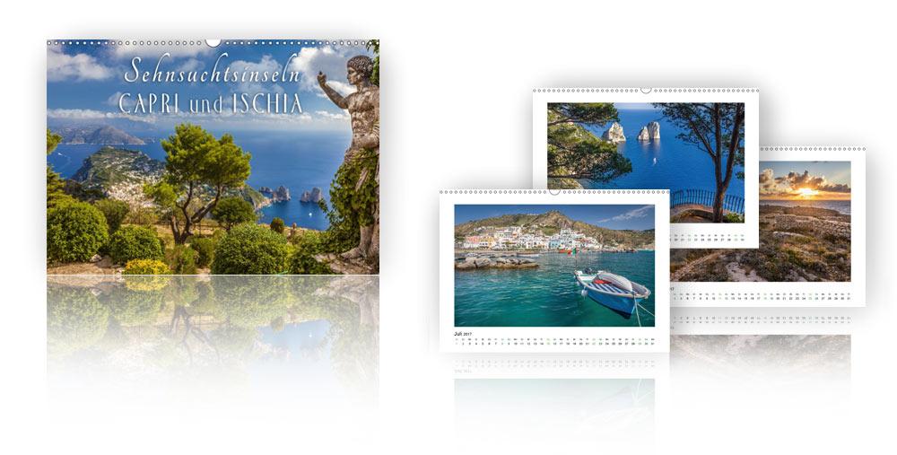 Kalender - Sehnsuchtsinseln Capri und Ischia 2018
