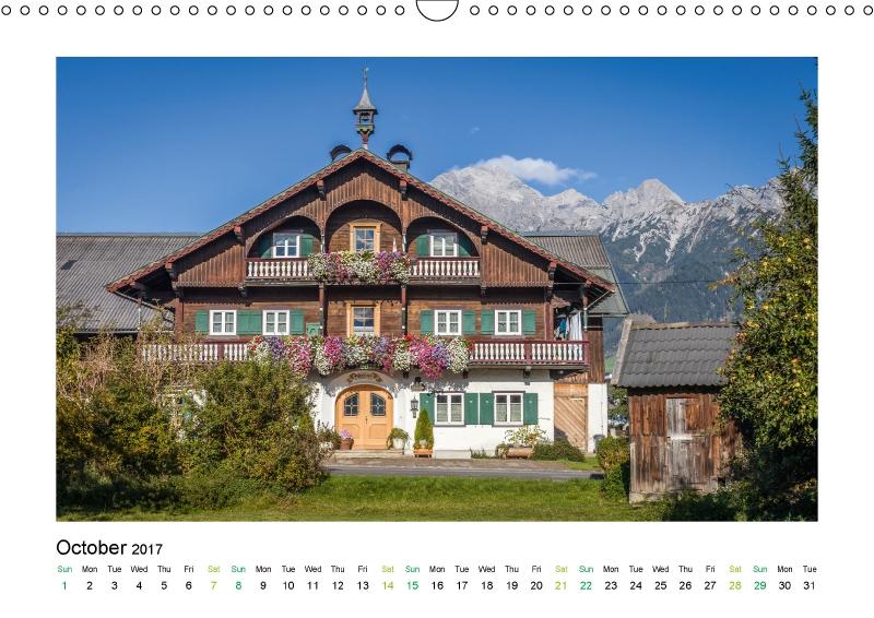 Prachtvoller Hof im Salzburger Land (Kalender Landhäuser mit Charme 2017)
