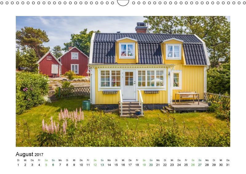 Sommerhaus in Schweden (Kalender Land (Kalender Landhäuser mit Charme 2017)