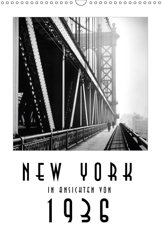 Kalender New York in Ansichten von 1936