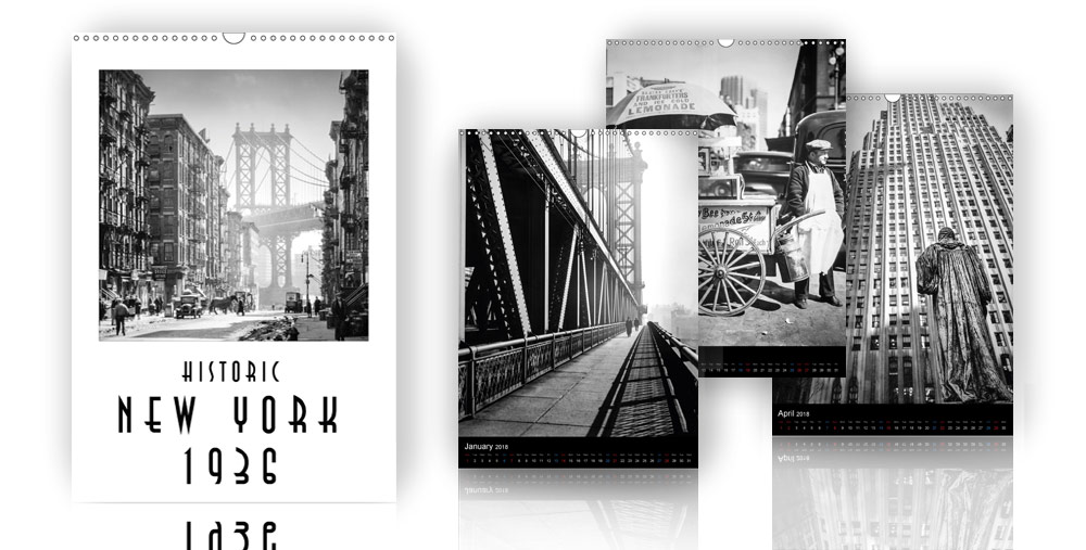 Calendar Historic New York 1936 – 2018