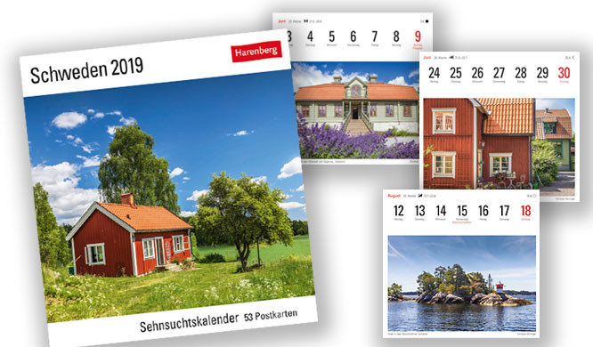 Harenberg Sehnsuchtskalender Schweden 2019