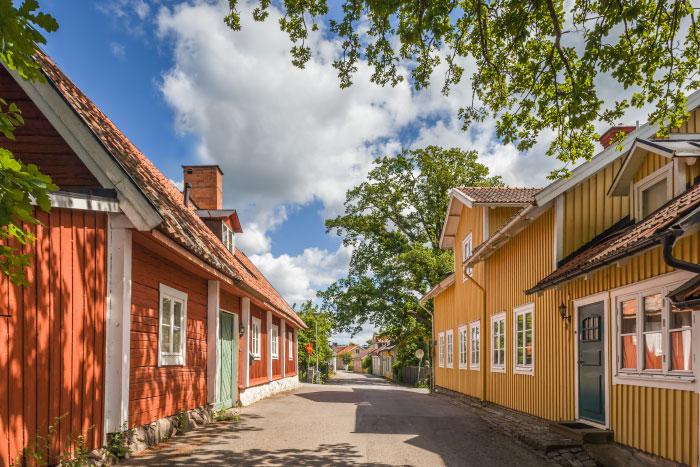 Häuser in der Altstadt von Sigtuna